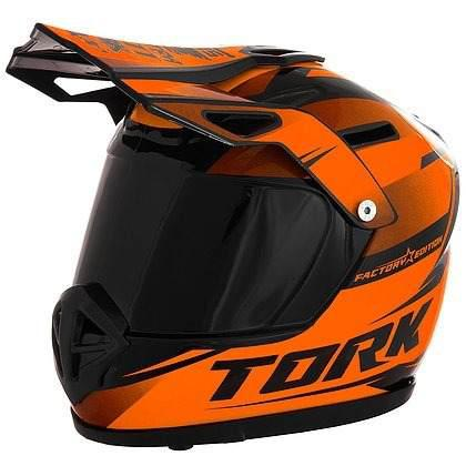 Casco Motocross Escala Con Alcancía Pro Tork Naranja