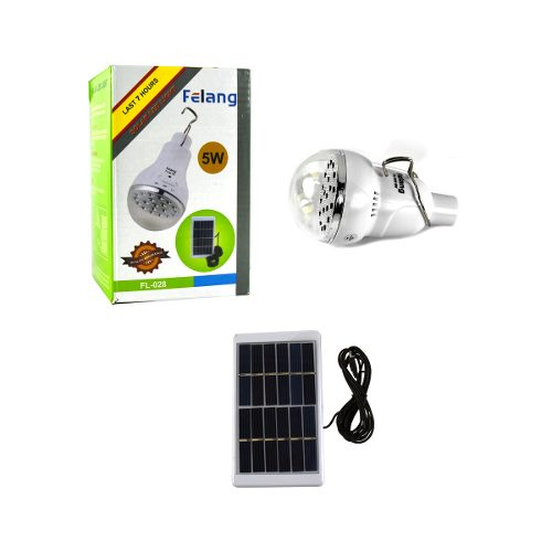Foco Led Solar Recargable Portatil Camping Blanco 5w /e+