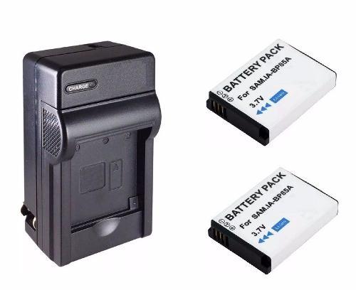 Kit 1 Cargador + 2 Baterias Bp-85a Para Samsung