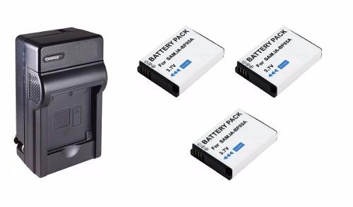Kit 1 Cargador + 3 Baterias Bp-85a Para Samsung