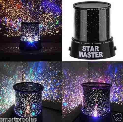 Lampara Led Colores Proyector De Estrellas Star Master Negra