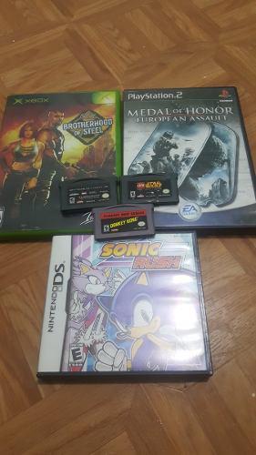 Lote De Juegos Xbox Clasico, Gameboy Advance, Nds Y Play 2