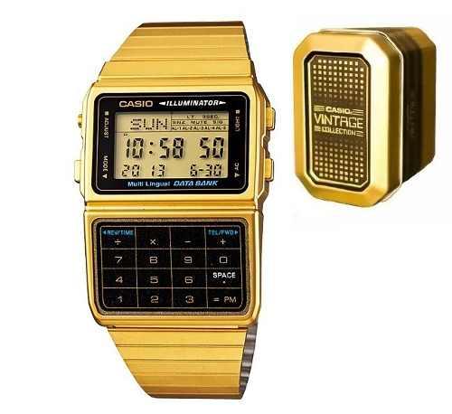 Reloj Casio Dbc611 Dorado Calculadora