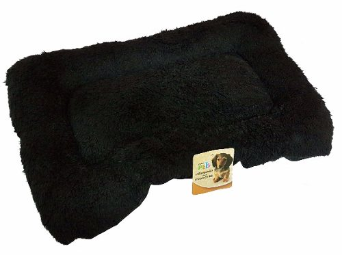 Tapete Cama Perro Transportadora Kennel Negro Gigante 92x57