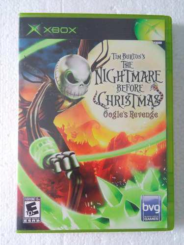 The Nightmare Before Christmas Xbox Original Clásico Burton
