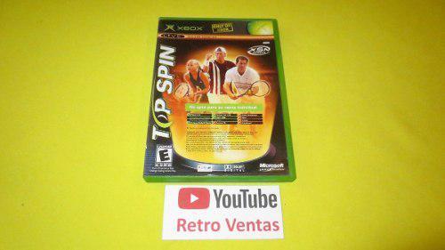 Top Spin / Amped 2 Xbox Clásico **2 Juegos En Uno**