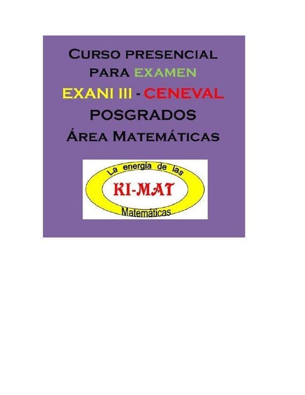 Cursos para examen Exani III - Ceneval