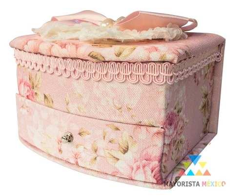 Joyero Alhajero Caja Tela Japones Oriental Vintage Hogar 936