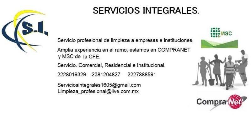 Servicio profesional de limpieza a empresas e instituciones.