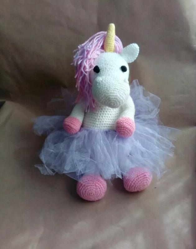 Unicornio amigorumi crochet tejido