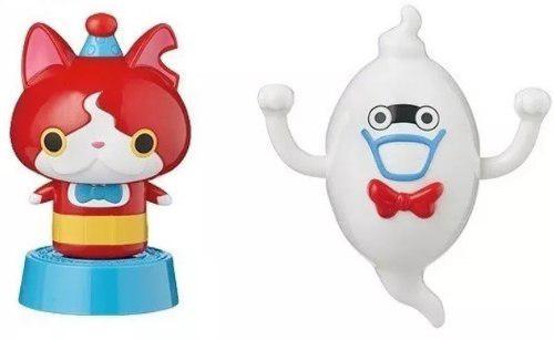 2 Figuras Yokai Watch Whisper Y Jibanyan Mc Donalds Nuevas
