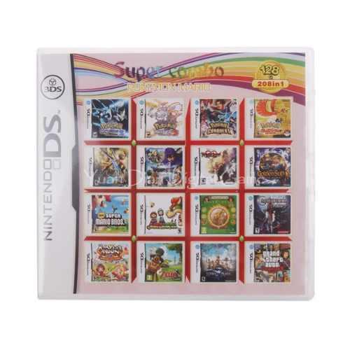 Cartucho De 208 Juegos Para Nintendo Ds Y 3ds.