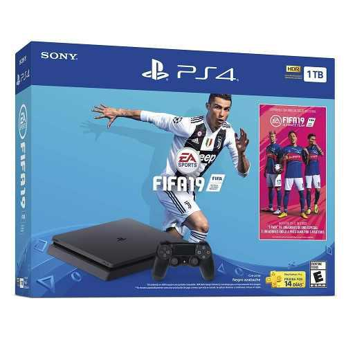 Consola Playstation Ps4 Slim 1tb Con Juego Fifa 2019
