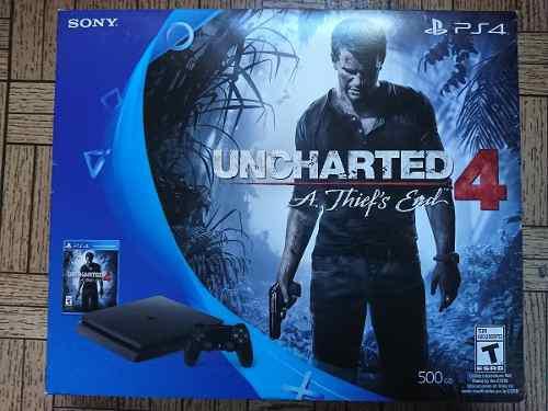Consola Ps4 500gb Uncharted 4 Nueva Y Sellada Garantía Sony