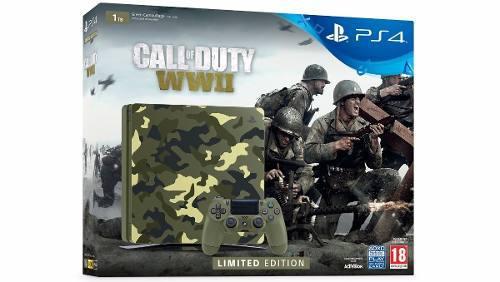 Consola Ps4 Slim 1tb. Edición Call Of Duty Ww2.