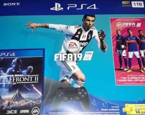 Consola Ps4 Slim 1tb Fifa 19 Playstation 4 Reyes + Star Wars