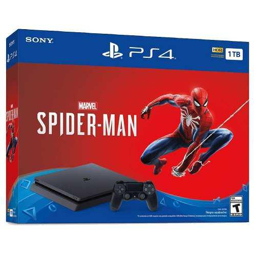 Consola Ps4 Slim 1tb + Spiderman Nuevo