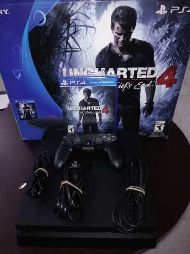 Consola Ps4 Slim 500gb + Uncharted 4 Playstation