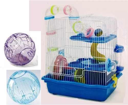 Jaula Hamster Fresno 2 Redkite + 2 Esferas Grandes 18 Cm