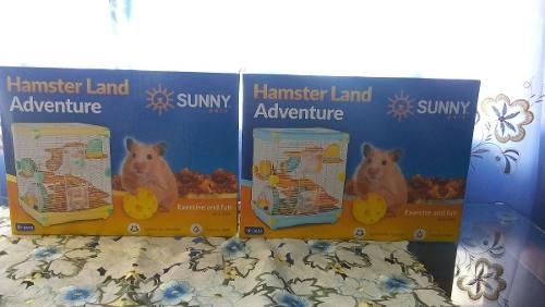 Jaula Hamster Land Adventure 36x27x43cm Raton Hogar