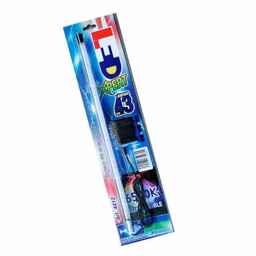 Lampara Led Acuarios Sumergible 43 Cm Luz Azul Y Blanca