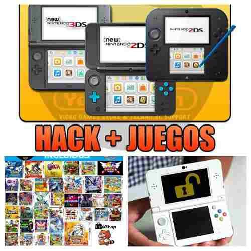 Liberación Total De La E'shop + Juegos De 3ds + Emuladores