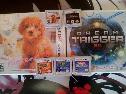 Lote De Juegos De 3ds,pokemon Sun,tetris,cooking Mama4