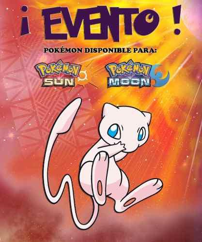Mew / 20th Pokémon Yo Te Elijo! - Evento - Sol Luna 3ds