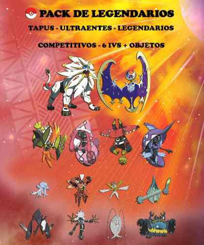 Pack Legendarios + Objetos - Pokémon Sol Luna Sun Moon 3ds!