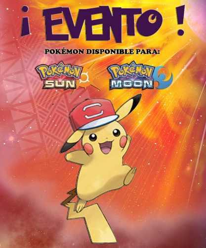 Pikachu Gorra De Ash / Alola - Evento - Pokémon Sol Luna