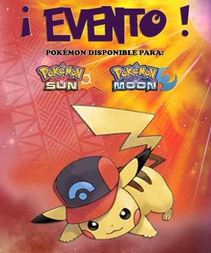 Pikachu Gorra De Ash / Sinnoh - Evento - Pokémon Sol Luna