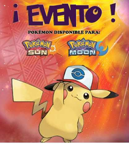 Pikachu Gorra De Ash / Unova - Evento - Pokémon Sol Luna