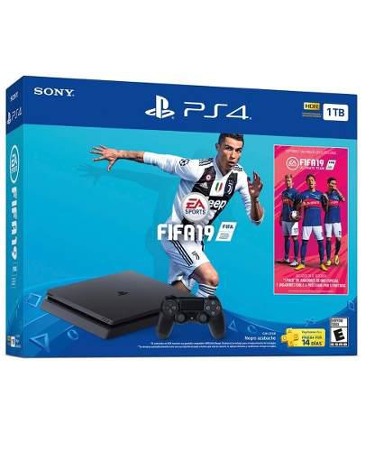 Playstation 4 Ps4 Slim Hdr 1tb Fifa 19 2019 18 Msi