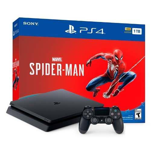 Playstation 4 Slim 1tb Edición Limitada Spider-man Ps4