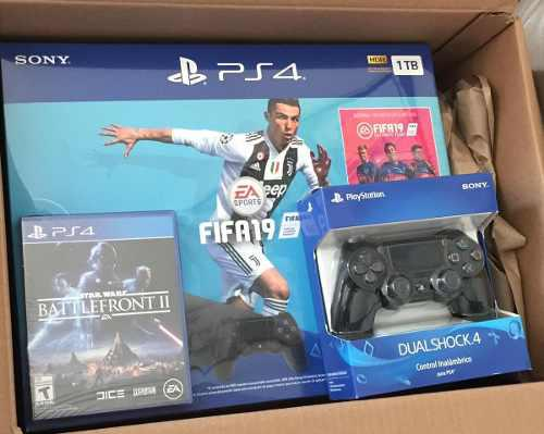 Playstation 4 Slim Ps4 1tb Fifa 19 Nuevo + Control +starwars