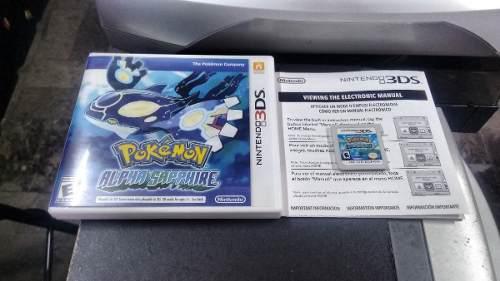 Pokemon Alpha Saphire Completo Para Nintendo 3ds