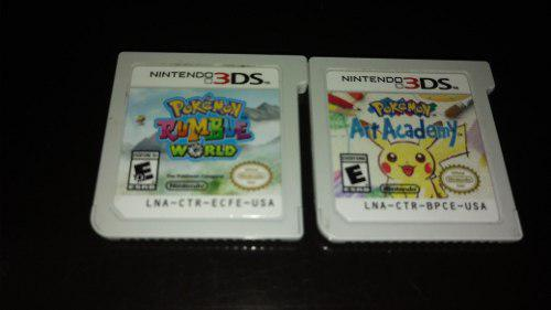 Pokemon Rumble World Y Pokemon Art Academy Para Nintendo 3ds