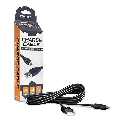 Tomee Micro Cable De Carga Usb Para Ps4 Xbox One Ps Vita