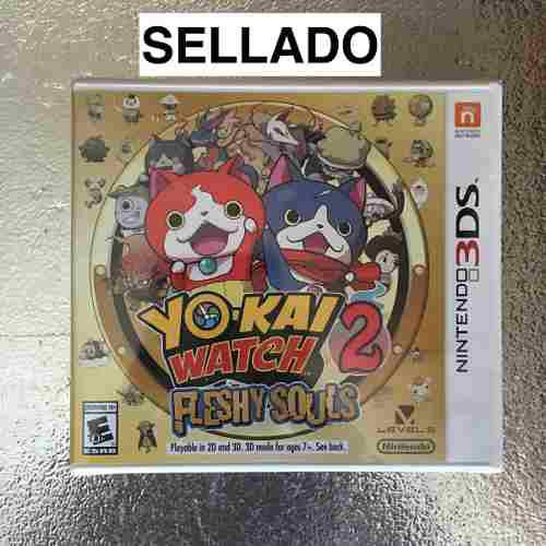 Yo-kai Watch 2 Fleshy Souls Para Nintendo 3ds Nuevo Sellado