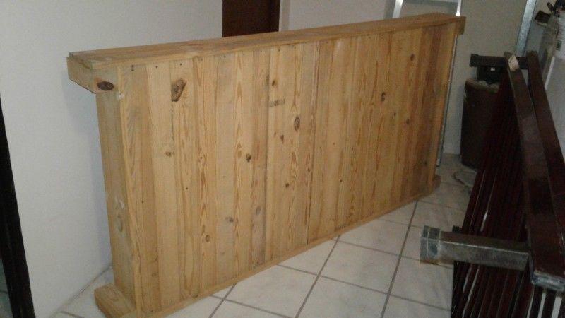 Base de cama individual de madera