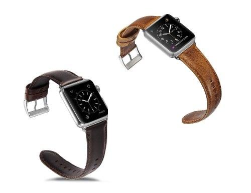 Correa De Piel Cuero Retro Para Apple Watch Series