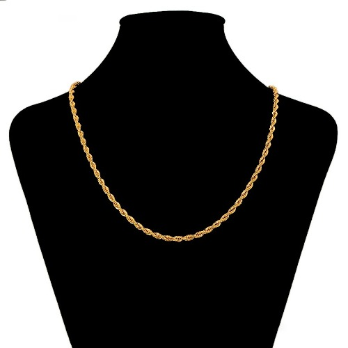 Elegante Cadena Torsal Oro 24k Lam 50cm + Envio Gratis