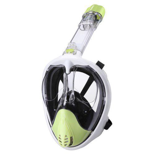 Enkeeo Máscara De Snorkel De Cara Completa (s / M, Verde)