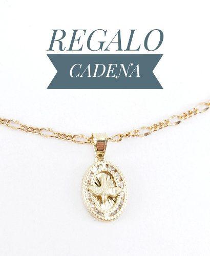 Hermosa Medalla Espíritu Santo Bautizo Oro 10k Y Cadena