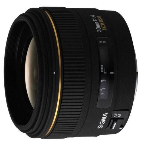 Lente Hsm Sigma 30 Mm F / 1.4 Ex Dc Para Cámaras Canon Slr