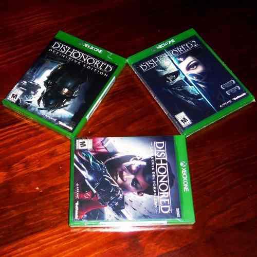 Lote 3 Vj Dishonored, 2 Y Muerte Del Forastero Xbox One