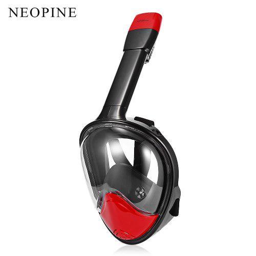 Neopine Desmontable Seco Snorkel Máscara De Cara Completa C