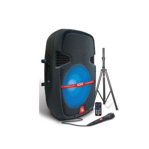 Bafle Recargable Bluetooth Bocina 15 Microfono Luces