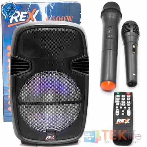 Bocina Bafle 15 Pulgadas Recargable Bluetooth Micrófono Cl