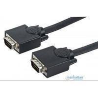 Cable Vga Manhattan Para Monitor O Proyector 15 Mts Negro Ma